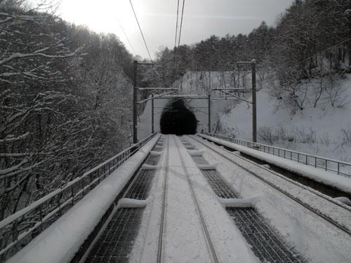 青函トンネルの北海道側で